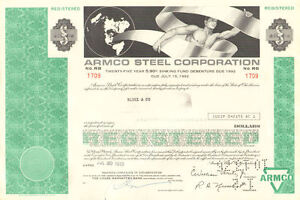Armco-Steel-Corporation-gt-greater-than-5-000-Ohio-bond-certificate-stock-share