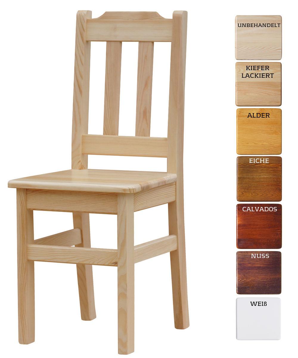 2 set chaise massif pin BOIS-NEUF restaurant chaise différentes couleurs - 2 set