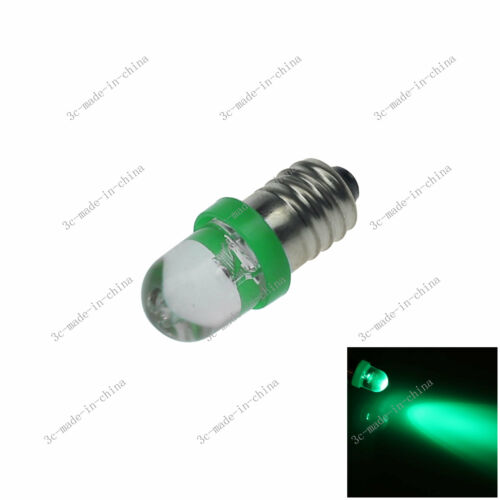 1X Green 1 In line LED E10 1447 style Bulb Light for DIY LIONEL 6V 12V 20089