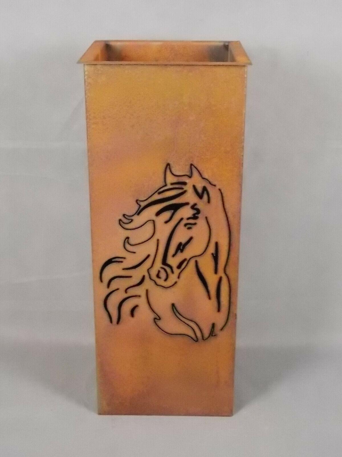 Metallsäule 600  Pferdekopf  mit Pflanzschale - Gartendeko