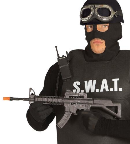 Ametralladora De Juguete Negro guerra Submachine Gun 56 Cm Con Sonido SWAT policía vestido de fantasía