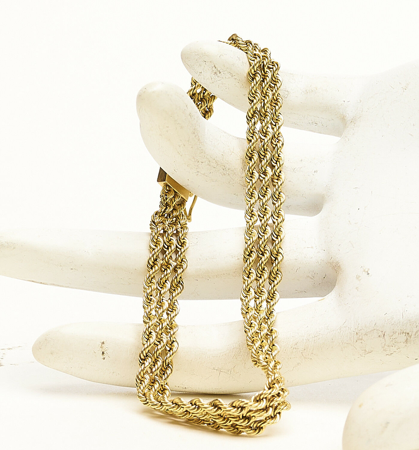 Authentic Yellow gold 14KT Rope Chain Bracelet Men's Womens 10.90g 55-30