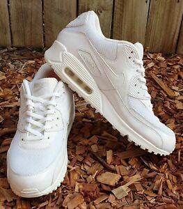 NIKE-Men-039-s-AIR-MAX-90-PREMIUM-Shoes-Sneakers-White-US12-UK9-5-100-Authentic
