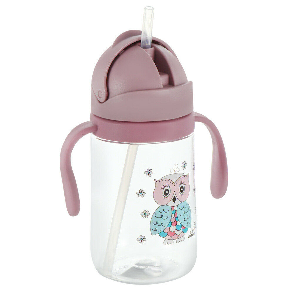 Spill Proof Sippy Cup with Straw Handles for Baby Toddler Water Bottle Cup