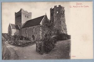 VINTAGE-POSTCARD-DOVER-ST-MARY-039-S-IN-THE-CASTLE-KENT-Unposted
