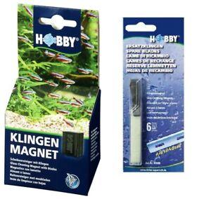 Hobby-Klingenmagnet-Algenmagnet-Scheibenreiniger-bis-8mm-Scheiben-6-Klingen