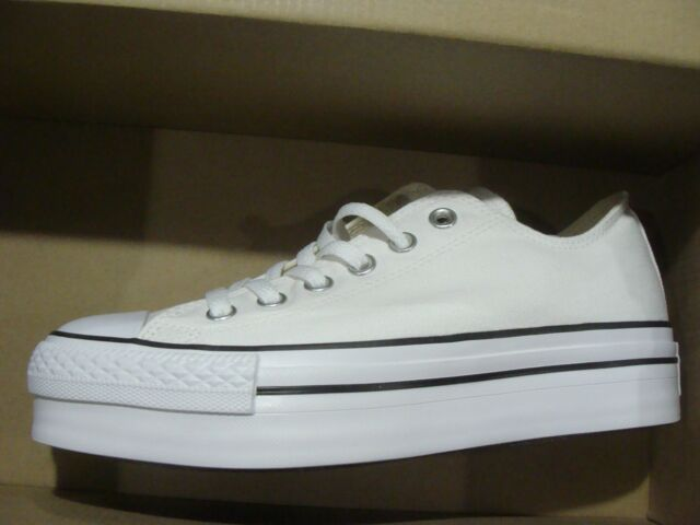 61b36afd8c3782 Converse Womens Chuck Taylor Platform White Canvas Trainers 8 US for ...
