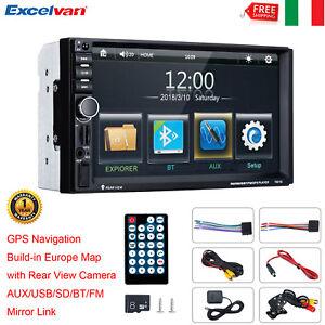 7-034-AUTORADIO-AUTO-STEREO-MP5-LETTORE-FM-USB-AUX-SD-BLUETOOTH-2-DIN-GPS-MAPPA-CAM