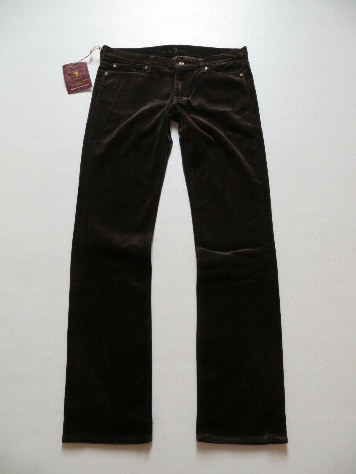 7 For All Mankind SAMT Jeans Hose W 31  L 34 braun NEU   warm made in USA   40