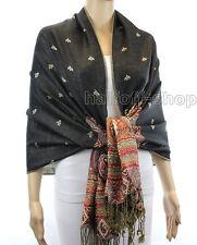 New Womens India Paisley Silk Pashmina Cashmere Shawl Scarf Stole Wrap Scarves