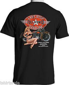 biker t shirts vintage american hog motorcycle mens black