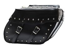 Motorcycle Saddlebags w/Studs Hard Sheet Water Proof Universal Fitting Pair UV