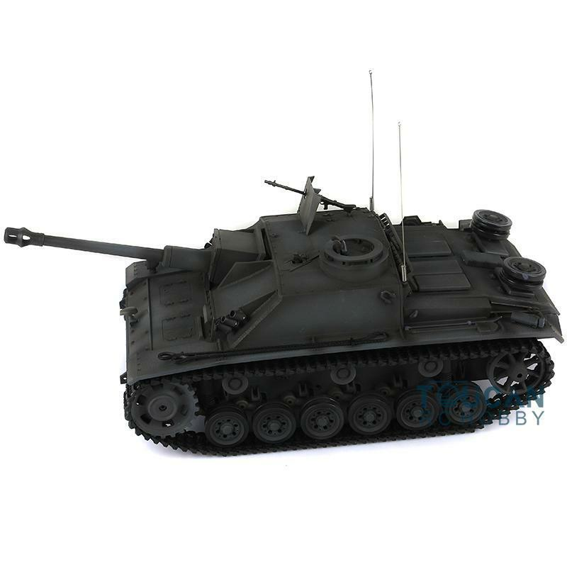 Henglungo 1 16  Upgraded Metal Version Geruomo Stug III RTR RC Tank modello 3868  divertiti con uno sconto del 30-50%