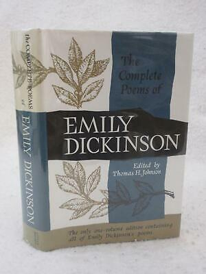 Emily Dickinson Complete Poetry Set New Sealed Deluxe Cloth Bound Poem Hardbacks