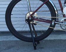 "Black Prewar Bike style Drop Stand KICKSTAND 20-28/"" Vintage Cruiser Tank Bicycle"