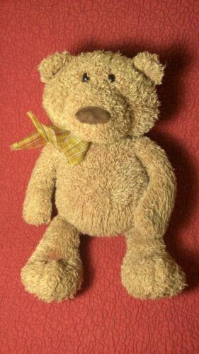 "15"" Gund TEDDY BEAR BONKERS brown curly plush stuffed bean weighted animal 15033"