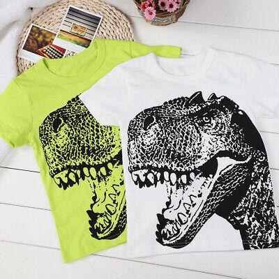 Baby Boy/'s Summer Clothes Cartoon Short Sleeve Dinosaur Printed T-Shirt Tops SF