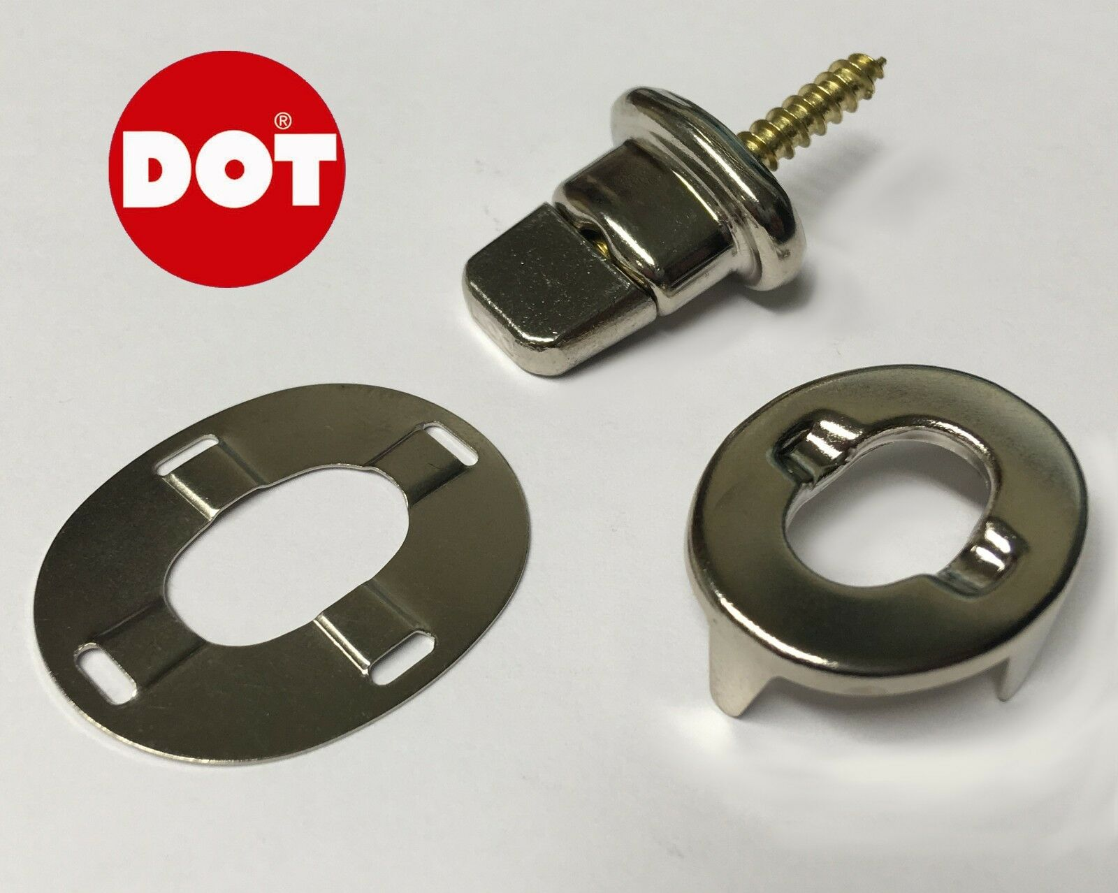 DOT Turnbutton Screw Base Eyelet Ring Washer Canvas Cover Fastener Brass Bimini