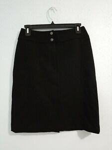 Lauren-Ralph-Lauren-Petite-Womens-Skirt-Black-Color-Wool-Blend-Size-4P
