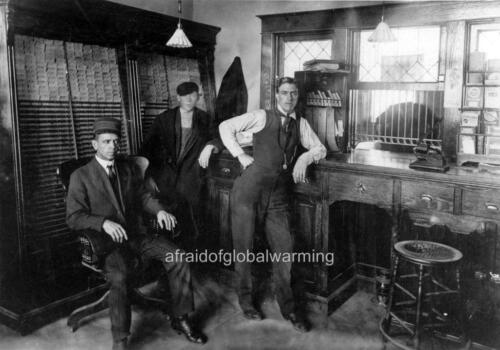 "Old Photo Norman Oklahoma /""Depot Ticket Office/"""