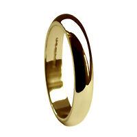 Sale 3mm 9ct Yellow Gold D Shaped Wedding Ring 2.9g J. Usa 4 5/8 Uk Hallmarked