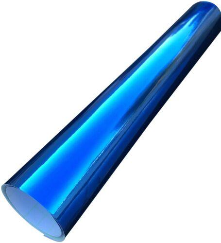 1520mm x 600mm Air//Bubble Free Mirror Chrome Vinyl Car Wrap Blue Sent In Tube