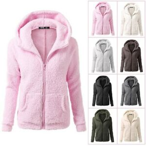 Plus-Size-Women-Thicken-Fleece-Fur-Warm-Winter-Coat-Hooded-Parka-Jacket-Outwear