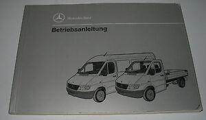 Auto & Verkehr Automobilia Betriebsanleitung Mercedes Sprinter T1n W 901-905 208 308 408 212 312 412 D!