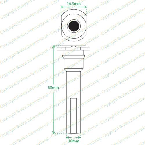 2x FRONT CALIPER SLIDER PINS BOLTS GUIDE KITS BCF1324MX2 ROVER 400 1990-2000