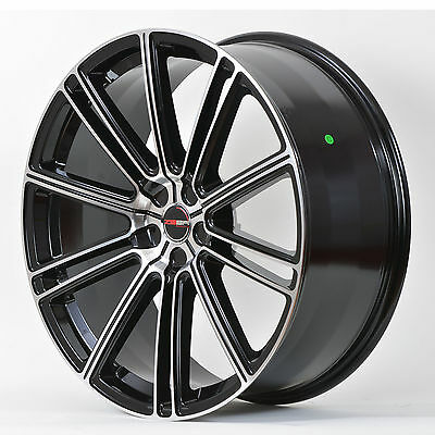 4 GWG Wheels 20 inch Black Machined FLOW 20x10 Rims fits Nissan Maxima 2003-2014