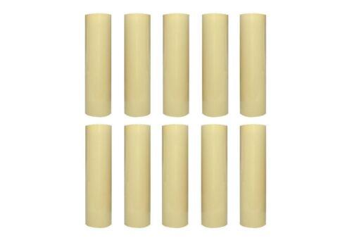 10 Kerzenhülsen glatt 26x100 elfenbein zu Kerzenfassung E14 Kerzenhülle Lüster