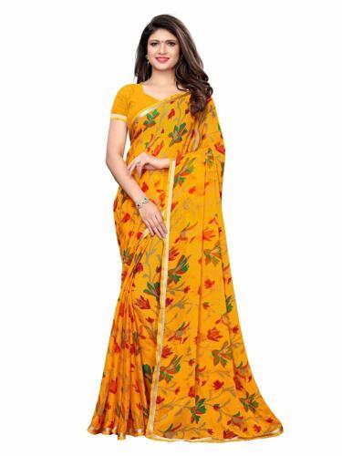 Indian Printed Saree Party Wear Chiffon Wedding Wear Bollywood Saree Sari Blouse