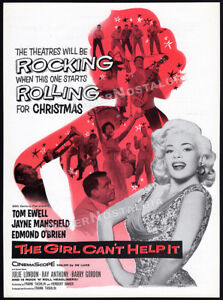 THE-GIRL-CAN-039-T-HELP-IT-Original-1956-Trade-print-AD-promo-JAYNE-MANSFIELD