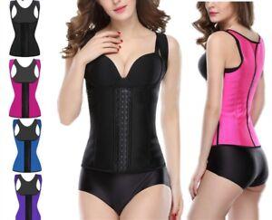 100-Latex-Women-Body-Shaper-Waist-Tummy-Clincher-Corset-Training-Sliming-Top