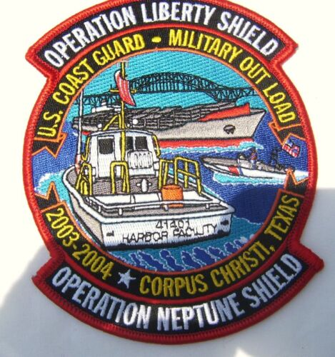 USCG PATCH-OPERATION LIBERTY SHIELD = COAST GUARD FULL COLOR