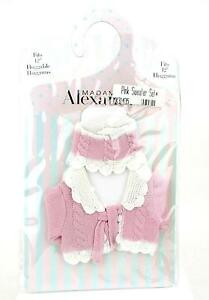 Madame-Alexander-Classic-Cable-Sweater-Set-Pink-Fits-12-034-Baby-Doll-Huggums