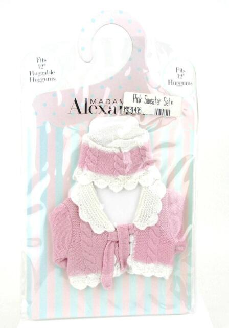 Madame Alexander Classic Cable Sweater Set Pink Fits 12