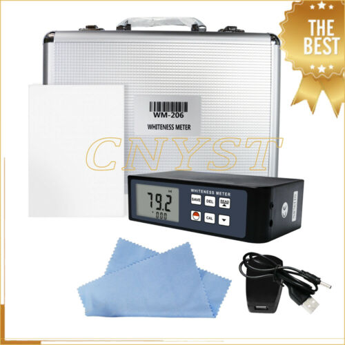 Digital Whiteness Meter Tester Leucometer with Blue Light Whiteness R457 0 to120