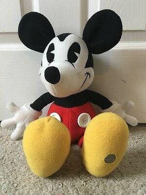Vintage Walt Disney World Plush Pie Eyed Stuffed Mickey Mouse 18 Inch