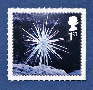 Christmas-Ice-Sculptures-034-Icicle-Star-034-Illustrated-on-a-2003-s-a-Stamp