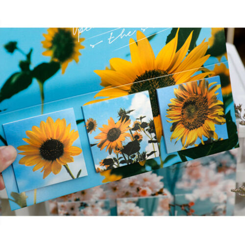 60Sheets Sticky Note Cute Creative Sky Sunflower Memo Pad School Office Suppl Db