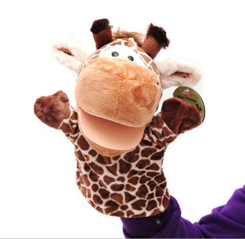 1Pcs Giraffe Toys Holiday Animal Puppet Kids Love Hand Puppet TC