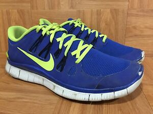 online store 71f02 d0510 Image is loading Used-Nike-Free-5-0-Hyper-Blue-Volt-