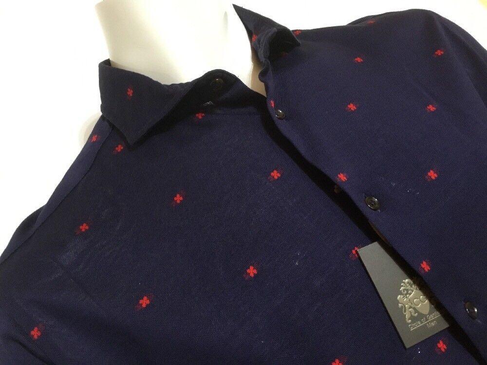 "Circle of Gentlemen  16"" Collar  46 46 46 1 2"" Chest  Blau Shirt rot Detail | Bequeme Berührung  caf860"
