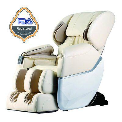 Electric Full Body Shiatsu Massage Chair Foot Roller Zero Gravity w/Heat New