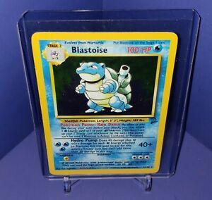Blastoise 2/130 - Base Set 2 - Holo Rare Pokemon Card LP