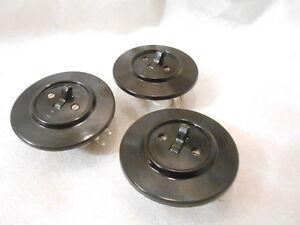 Originale Bakelit Steckdosen Schuko Unterputz schwarz rund Schalter