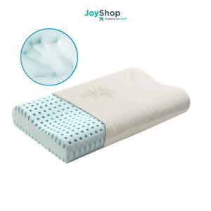 Miglior Materasso Per Cervicale.Cuscino Guanciale Memory Foam Doppia Onda Per Cervicale Tessuto