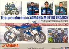 Team Endurance YAMAHA MOTOR France 2000 Carte Postale Moto Motorcycle Postcard