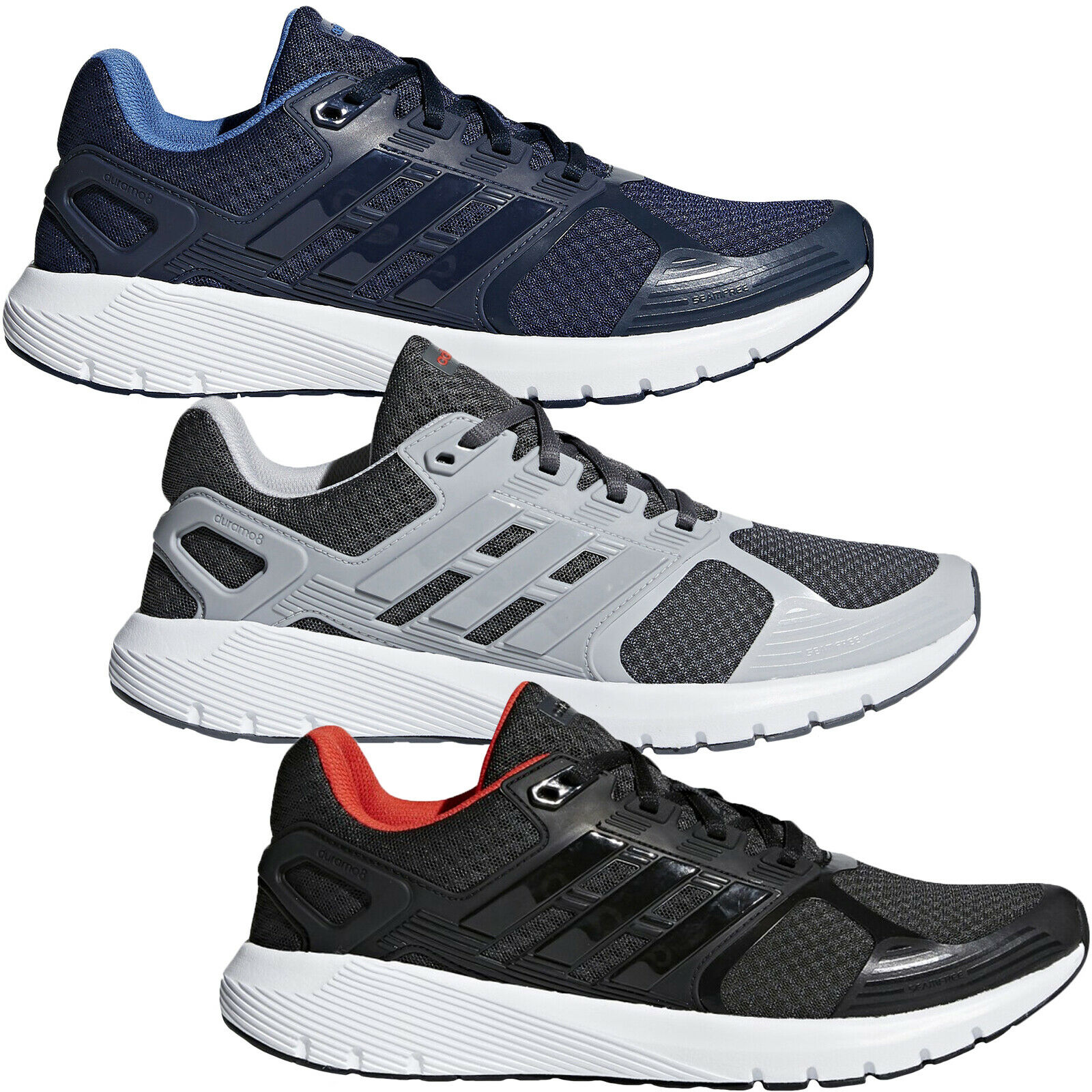 Adidas Performance Mens Duramo 8 Lace Up Sports Training Running Trainers shoes